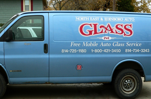 Erie Area Auto Glass and North East Auto Glass Mobile glass repair units.